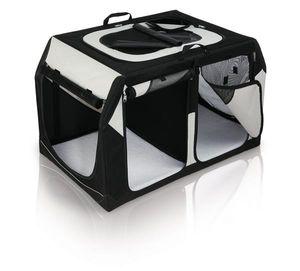 Transportbox Vario Double Gr. S-M TRIXIE schwarz/grau 91x60x61/57cm