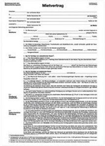 herlitz Vordruck ŽMietvertragŽ, DIN A4, 4-seitig, Menge: 4 (Neu)