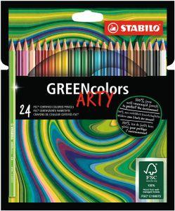 Umweltfreundlicher Buntstift - STABILO GREENcolors - ARTY - 24er Pack - mit 24 verschiedenen Farben