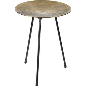 Dreibein-Tisch, Kaffeetisch, silbern - Home Styling Collection, Farbe:golden