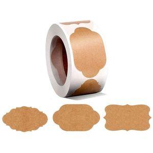 Mllaid 300 Stück Etikettenaufkleber für Einmachgläser und Deckel, Mason Jar Etiketten Geschenkaufkleber, Einmachetiketten, Flaschenetiketten, Kraftaufkleber für Einmachgläser