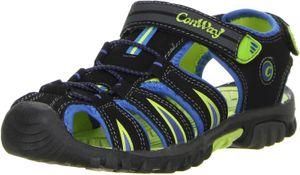 ConWay Kinder Jugend Trekkingsandalen blau, Größe:30, Farbe:Schwarz