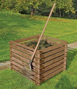 Komposter Holz kdi braun 90x90x70cm
