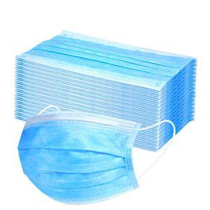 200X Atemschutzmasken Masken, 3 Lagig Maske Hygienemaske Staubschutz Mund Gesichtsmaske Blau
