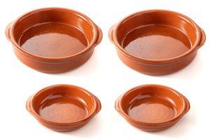 FUMOSA »Piataci« Grillschale, aus Keramik   Keramikschale, Grillplatte Größe: 2x 14 cm & 18 cm
