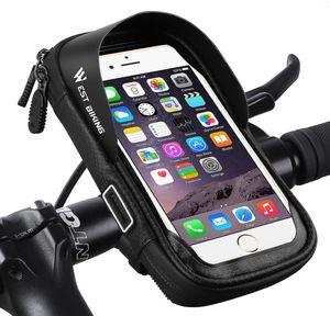 Fahrrad Lenkertasche Wasserdicht, Handy Halterung Universal Motorrad Handyhalter für 3,5-6,0 Zoll Smartphone mit 360° Drehbar Fahrradtasche