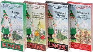 KNOX - 4er Set - Tanne, Weihnachtsduft, Weihrauch Myrrhe, Sandel