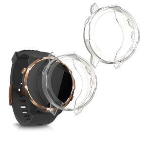 kwmobile 2x Sport Schutzhülle kompatibel mit Suunto 7 Smartwatch - Hülle Silikon klar ohne Tracker Transparent