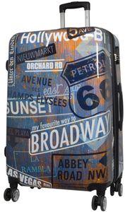 Koffer Bowatex Reise Trolley Hartschalen Broadway City New York 78 cm XL Groß