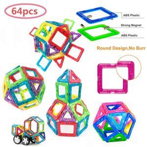 64 Teile Magnetische Bausteine Bauklötze Magnete Bauklötze Konstruktion Blöcke Bausatz Pädagogisches Spielzeug