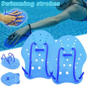 Schwimmhub Kurzes Handpaddel Wasser Webbed Handschuhe S / M / L Schwimmtraining XSL90429627S