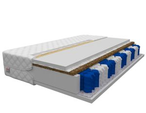 Matratze 140 x 200 cm VITORIA 7 Zonen H3 Premium Taschenfederkern mit Kokos Höhe ca 17 cm