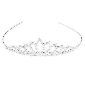 Hochzeit Diadem Brautschmuck Strass Perle Blume Haarband Stirnband (Silber)