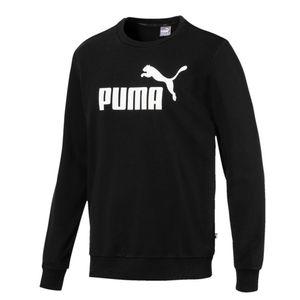 Puma ESS Logo Crew Sweatsirt Herren rundhals Pullover, Größe:L, Farbe:Schwarz