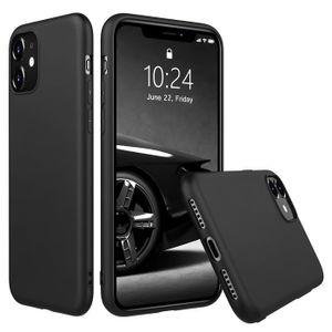 Hülle für Apple iPhone 11 Schutzhülle Handy Hülle Slim Case Weich Matt Schwarz