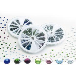 PEBARO Strass-Steine in 7 Farben, 4 Größen, 1.400 Stück