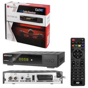 DVB-C HDTV-Receiver RED OPTICUM AX C100 HD, PVR, schwarz