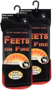 Stark Soul® Thermo Socken - FEETS on FIRE 2er Pack 41-45 Schwarz