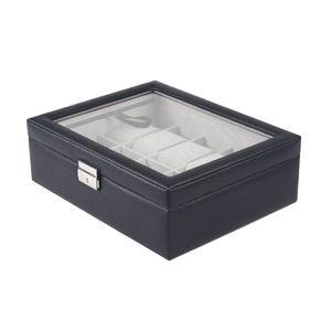 Uhrenkasten Uhrenschatulle Uhrenkoffer Uhrenbox Uhrenorganizer Aufbewahrungsbox für 10stk Uhren