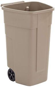 Rubbermaid Abfall-Rollcontainer 100 Liter PP beige ohne Deckel