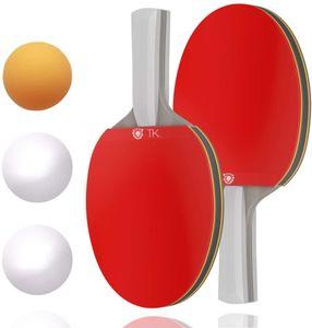 TK Gruppe Timo Klingler Tischtennis Set - bestehend aus Tischtennisschläger, Tischtennisbälle - für Training & Wettkampf - Ping Pong - Tischtenniskellen Schläger & Bälle