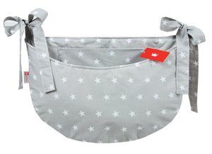 BABYLUX Babybetttasche Organizer BETTTASCHE Spielzeugtasche Tasche Babybett  91. Sterne Grau