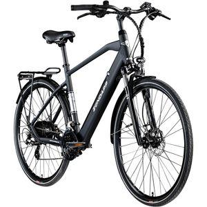 Zündapp Z810 Herren E-Bike 28 Zoll Trekkingrad Pedelec E-Trekkingrad Fahrrad Trekking Bike StVZO, Farbe:schwarz, Rahmengröße:52 cm