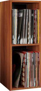 """VCM Schallplatten Regal Archiv LP Möbel Archivierung """"Platto 2fach"""" Kern-Nussbaum"""