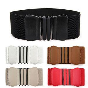5 Stücke Damen Breiter Taillengürtel Stretchgürtel Elastische Hüftgürtel Gürtel Waistband für Kleidung Dekor