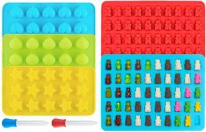 Gummibärchen/Schokoladenform 5er Set aus Silikon, LFGB  BPA-frei Silikon Bonbons, Pralinenformen - Herz-, Stern- und Muscheln-Formen für Kinder - MEHRWEG