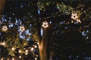 LED Lichterkette Fußball, inkl. Netzstecker