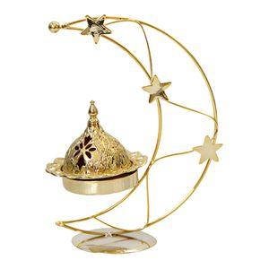 Eid  Brenner, Mond Form Kerzenhalter  Halter Aromatherapie Ornament, Desktop Wohnkultur für Eid Ramadan Mubarak