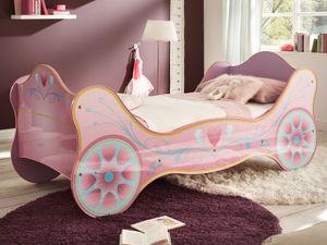 """Kinderbett Autobett Mädchenbett Motivbett Prinzessinnenbett Bett """"Saphira I"""""""