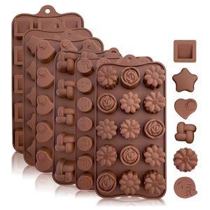 6er Set Silikon Backform Schaber Pralinenform Schokoladenform
