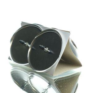 Adventskranzkerzenhalter Silber - Metall Ø 6 cm WK