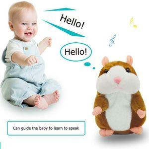 Melario Sprechende Hamster Kuscheltier Plüschtier Spielzeug Talking Toy Hamster Maus Braun