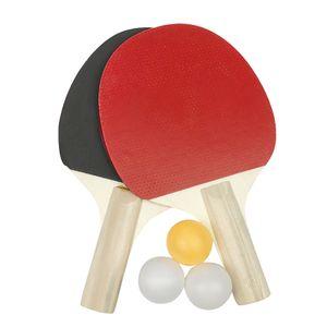 Tischtennisschl?ger Praktische Farbe Holzpaddler Tischtennisball spielen