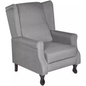 [HOMMIE]Sessel Relaxsessel Neues Fernsehsessel Liegesessel Polstersessel Einzelliegesessel Wohnzimmer Schlafzimmer Heimkino Grau Stoff größe:74,5 x 85,5 x 102 cm Multifunktionale5409