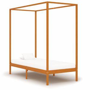 Modernem - Himmelbett-Gestell Bettgestell Honigbraun Massivholz Kiefer 90 x 200 cm - Doppelbett Designbett Jugendbett
