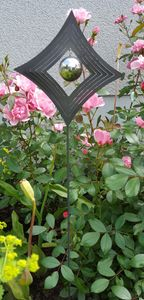Skulptur Love Raute 80 cm Edelstahl Gartendekoration Beetstecker Gartenstecker