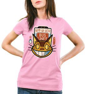 style3 Katzenbuslinie Damen T-Shirt totoro anime nachbar, Farbe:Pink, Größe:2XL