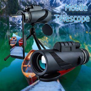 40X60 Zoom Optisches HD-Objektiv Monokular Teleskop + Stativ + Clip für Universal Phone