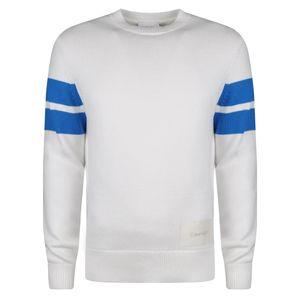 "Calvin Klein Pullover ""Tape Yarn Stripe"" -  K10K102988 /  Tape Yarn Stripe - Weiß-  Größe: XXL(EU)"