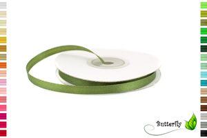 25m Rolle Satinband 6mm , Farbauswahl:olivgrün 563D