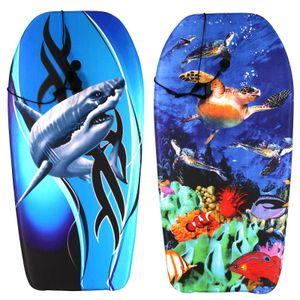 Best Sporting Schwimmbrett Bodyboard inklusive Befestigungsschnur, Design:Shark