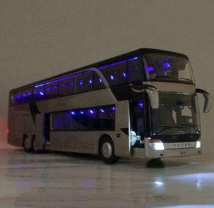 Stadt Reisebus Spielzeug Modell Fahrzeug Ride A Kutsche Maßstab Kinder