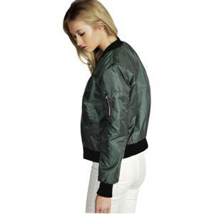 New Fashion Frauen Slim Biker Motorrad Soft Zipper Short Coat Jacke Größe:L,Farbe:Grün