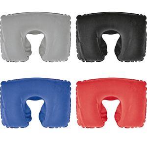 4x aufblasbares Kissen / Reisekissen / Strandkissen / 4 verschiedene Farben