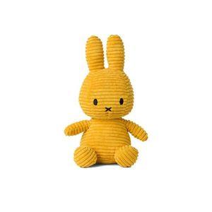 Miffy Cord-Plüschfigur (gelb, 24cm) Kuscheltier Stofftier Hase Plüschtier