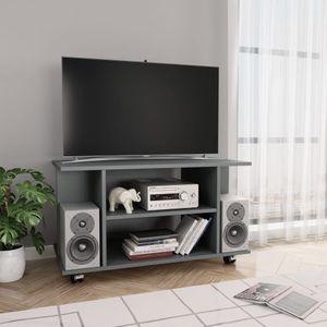 dereoir TV-Schrank mit Rollen Grau 80×40×40 cm Spanplatte